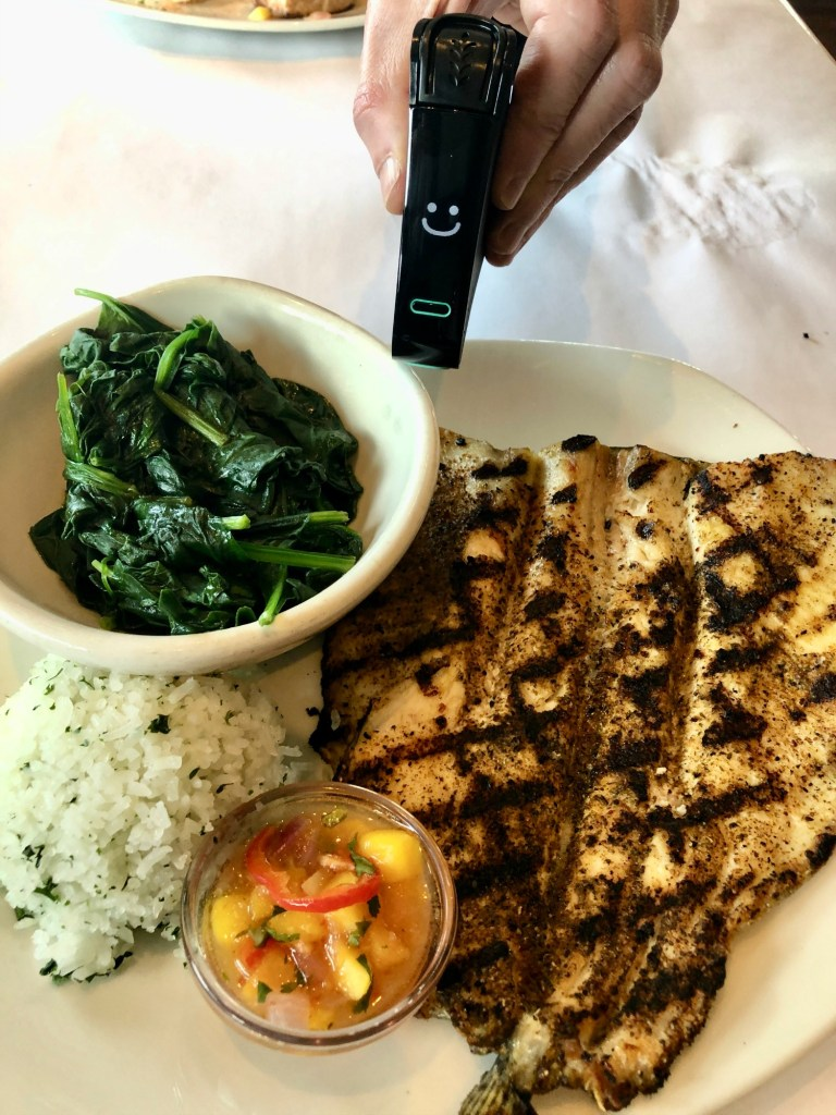 Rainbow trout at Bonefish Grill being Nima Sensor tested