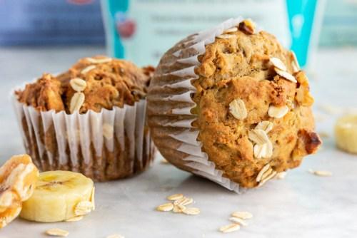 Gluten-free banana walnut muffins - header