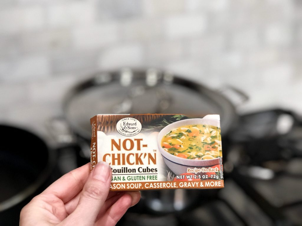 No Chick'N bouillon cubes to enhance chicken soup flavor