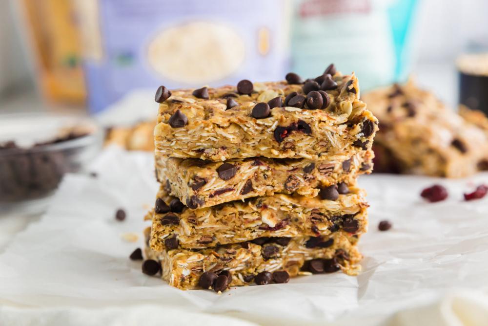 Gluten-Free Peanut Butter Oat Bars - header