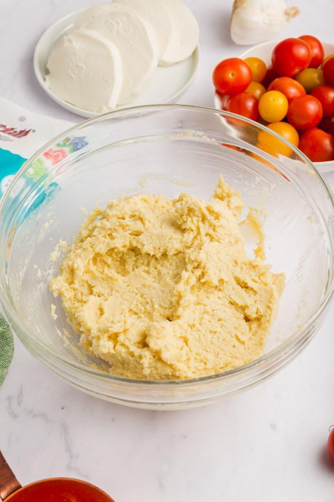 Picture of flatbread crust dough