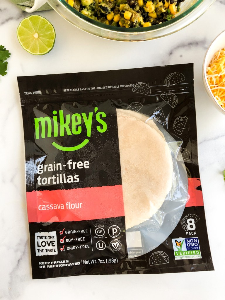 Mikey's grain-free tortillas package