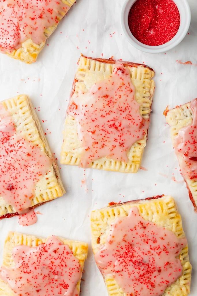gluten-free pop tarts on a tray