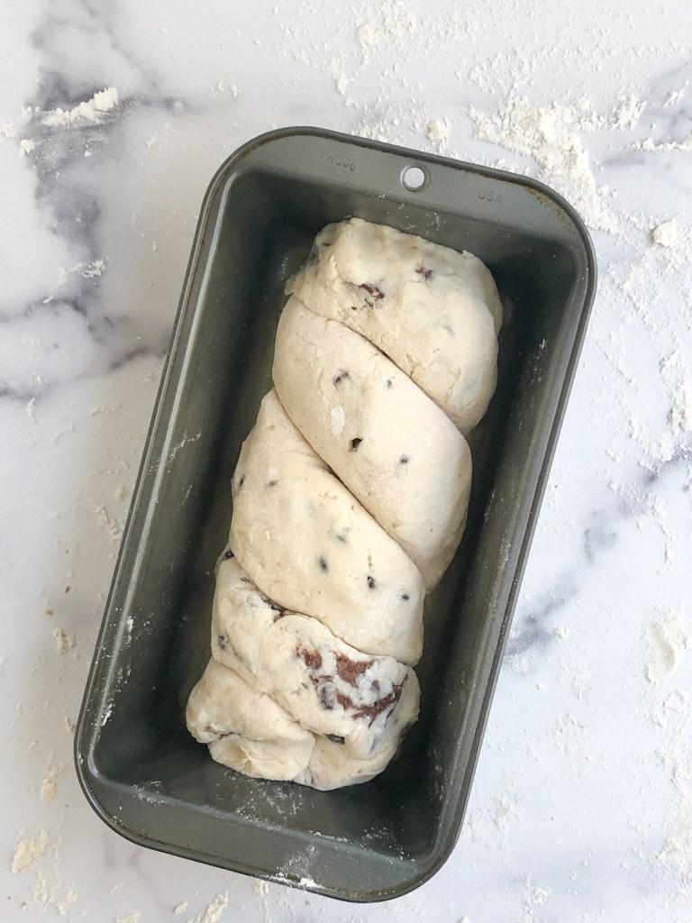 Babka in a loaf pan