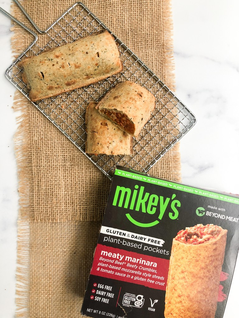 Mikey's plant-based pockets made with Beyond Meat