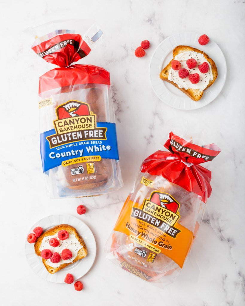 Canyon bakehouse gluten-free bread in stayfresh packaging
