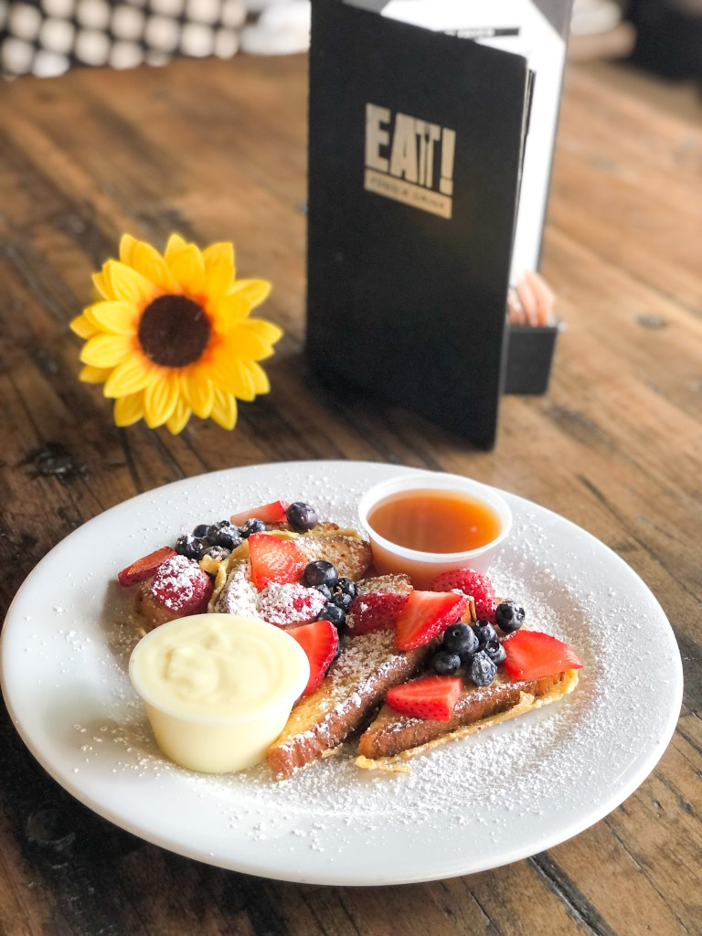 Gluten-free french toast at EAT food and drink