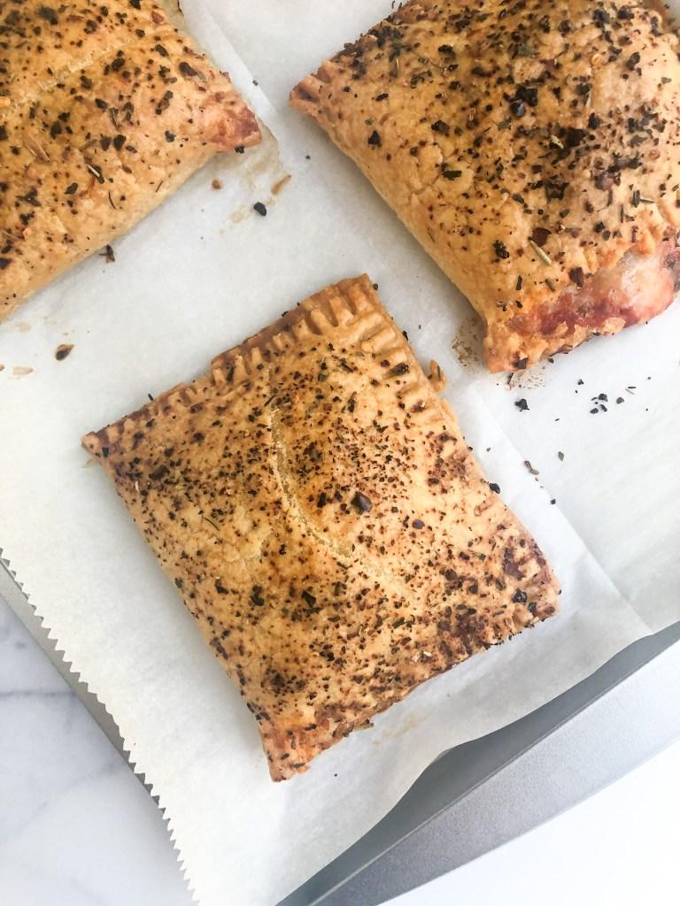 upclose on gluten-free hot pocket