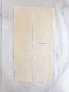 puff pastry dough cut into rectangles