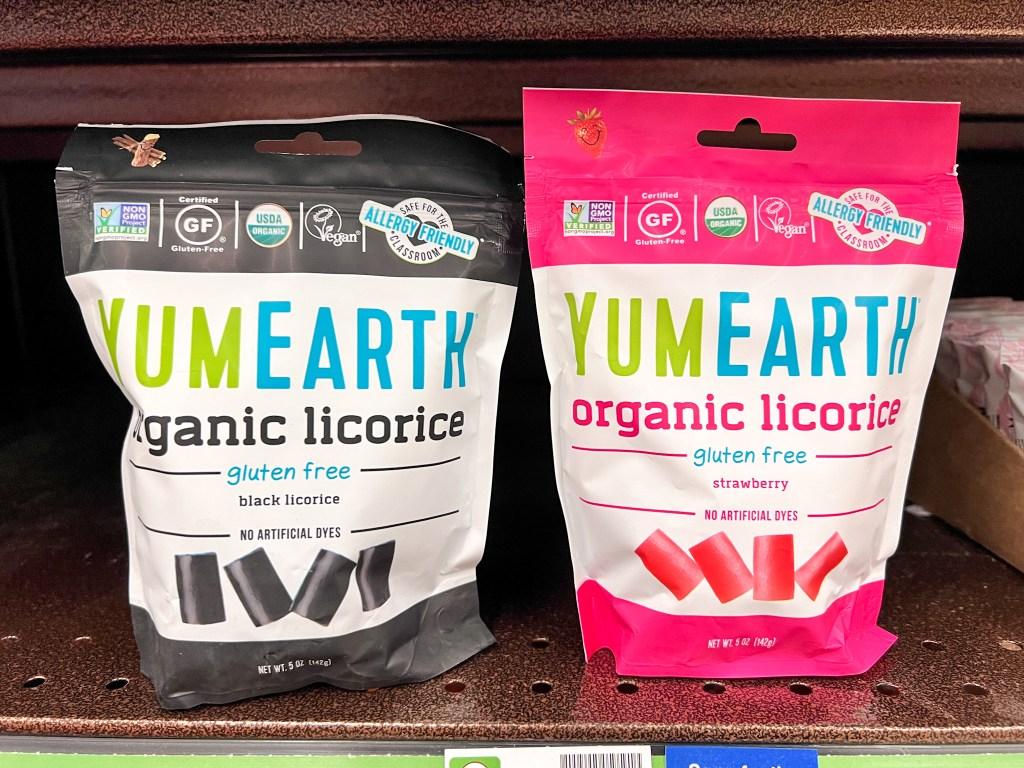 YumEarth licorice on shelf