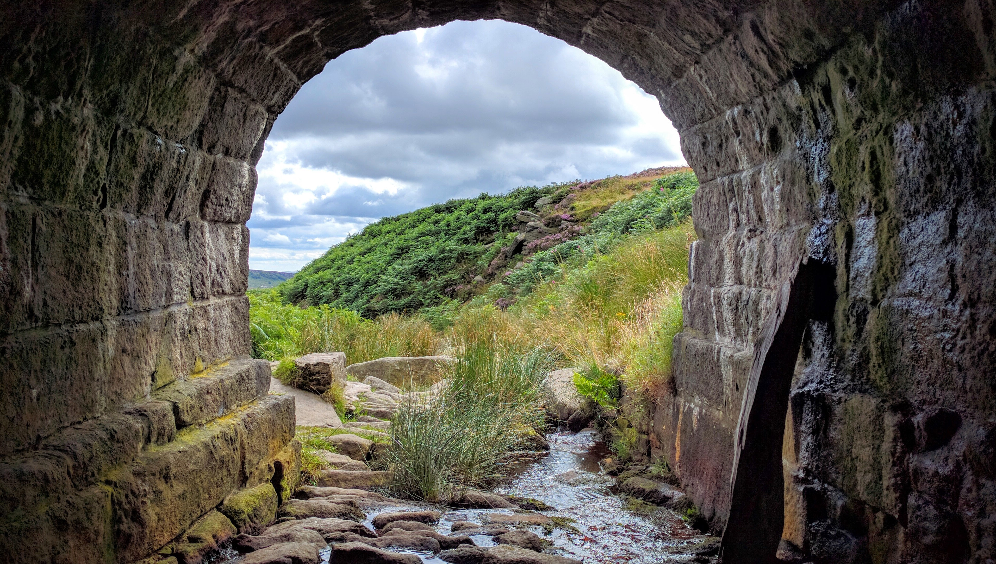 Landscape Of England Through A Tunnel Image Free Stock