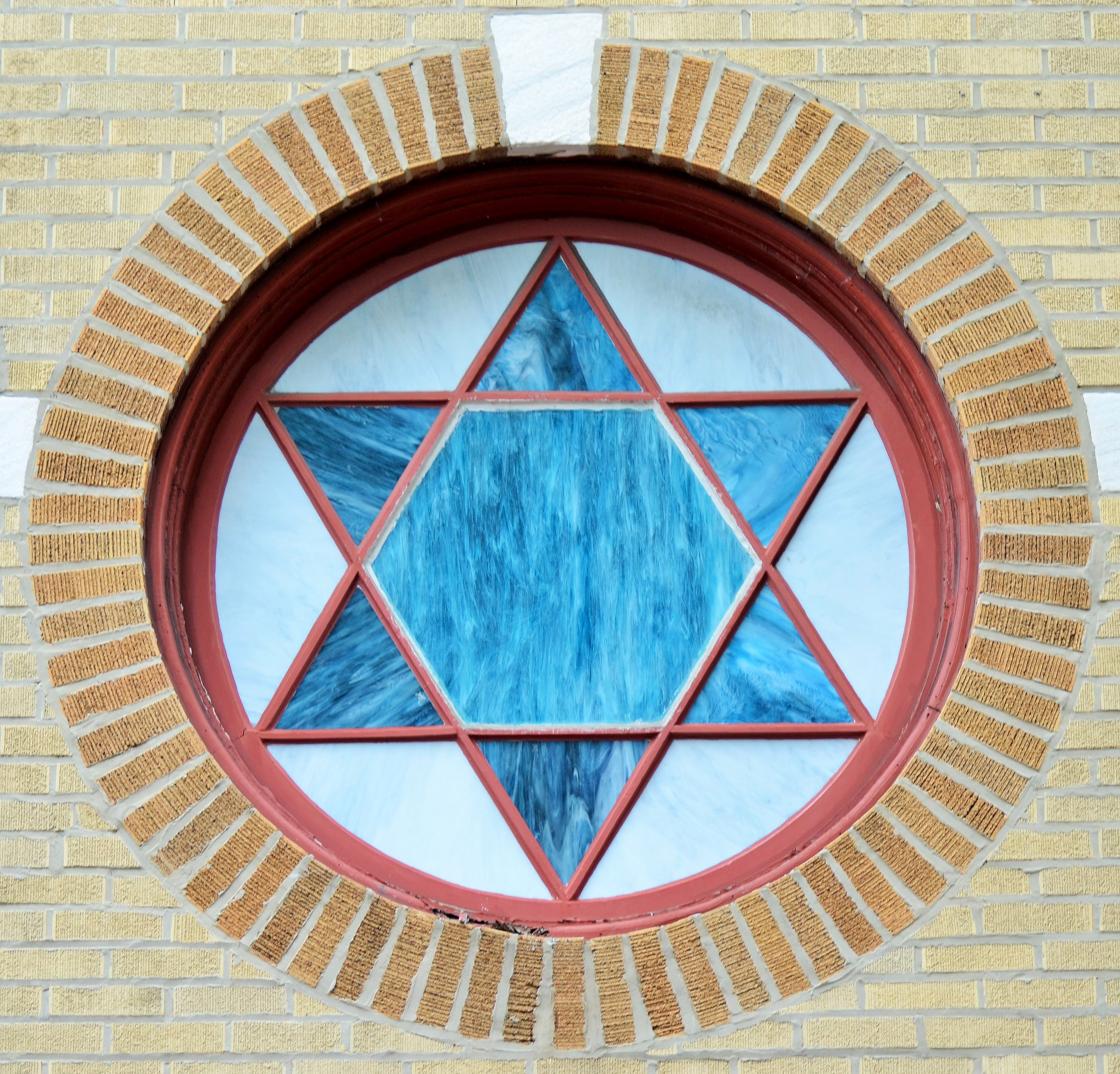 Star Of David Window Art Image