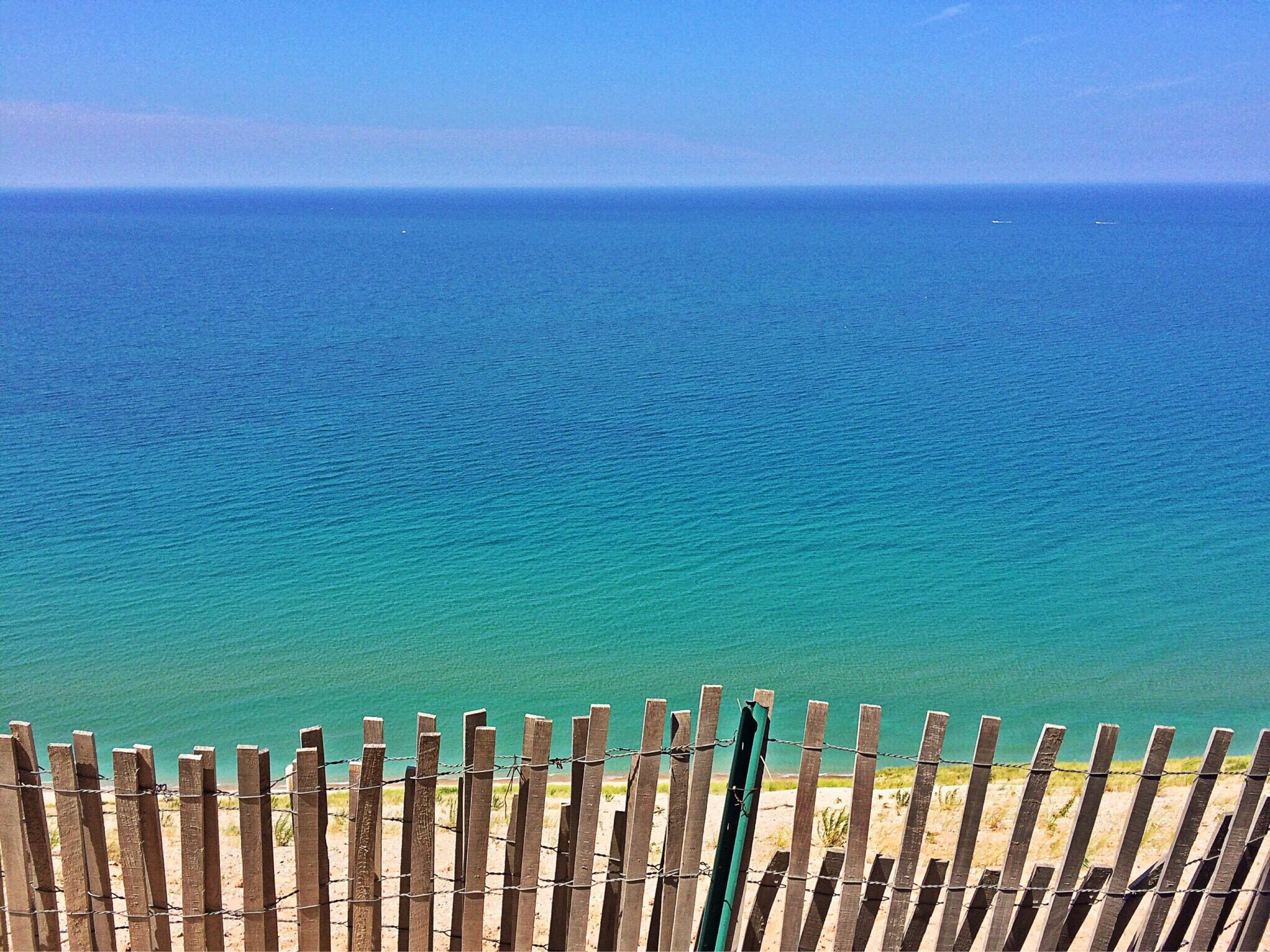Landscape And Seascape Of The Great Lakes And Beach In