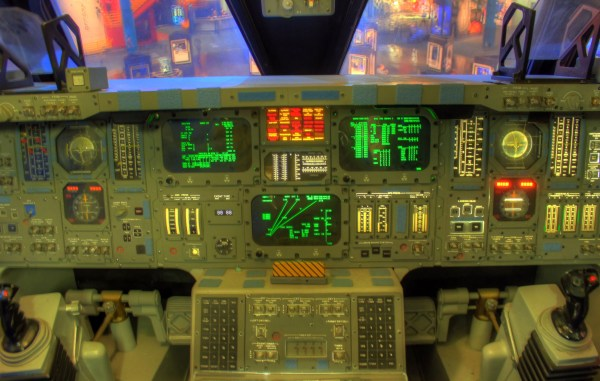Space Shuttle Cockpit in Houston Texas image Free stock