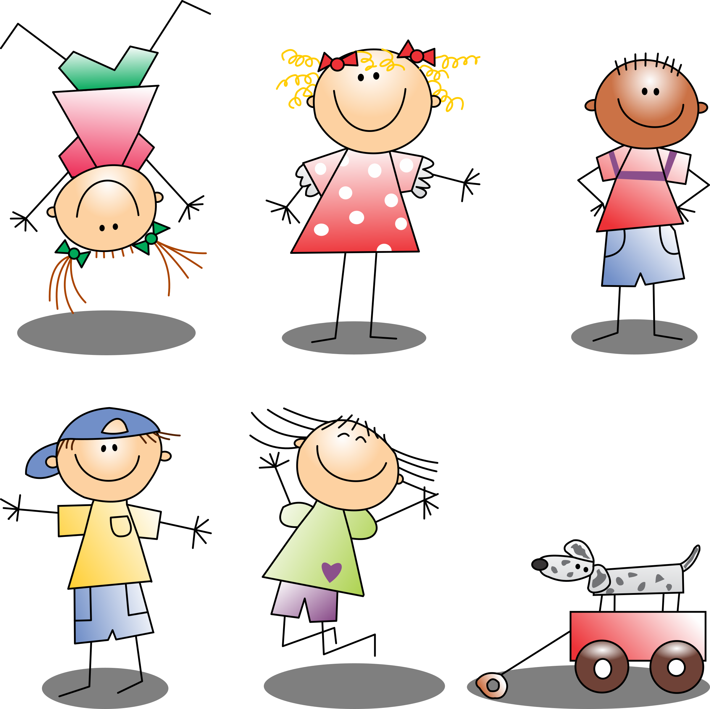 Boys And Girls Vector Clipart Image