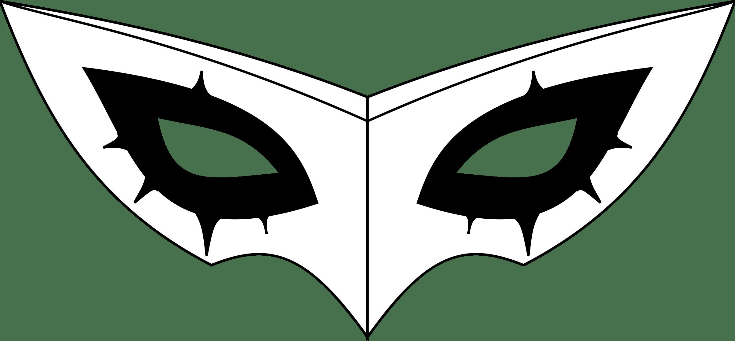 Joker S Costume Mask Vector Clipart Image