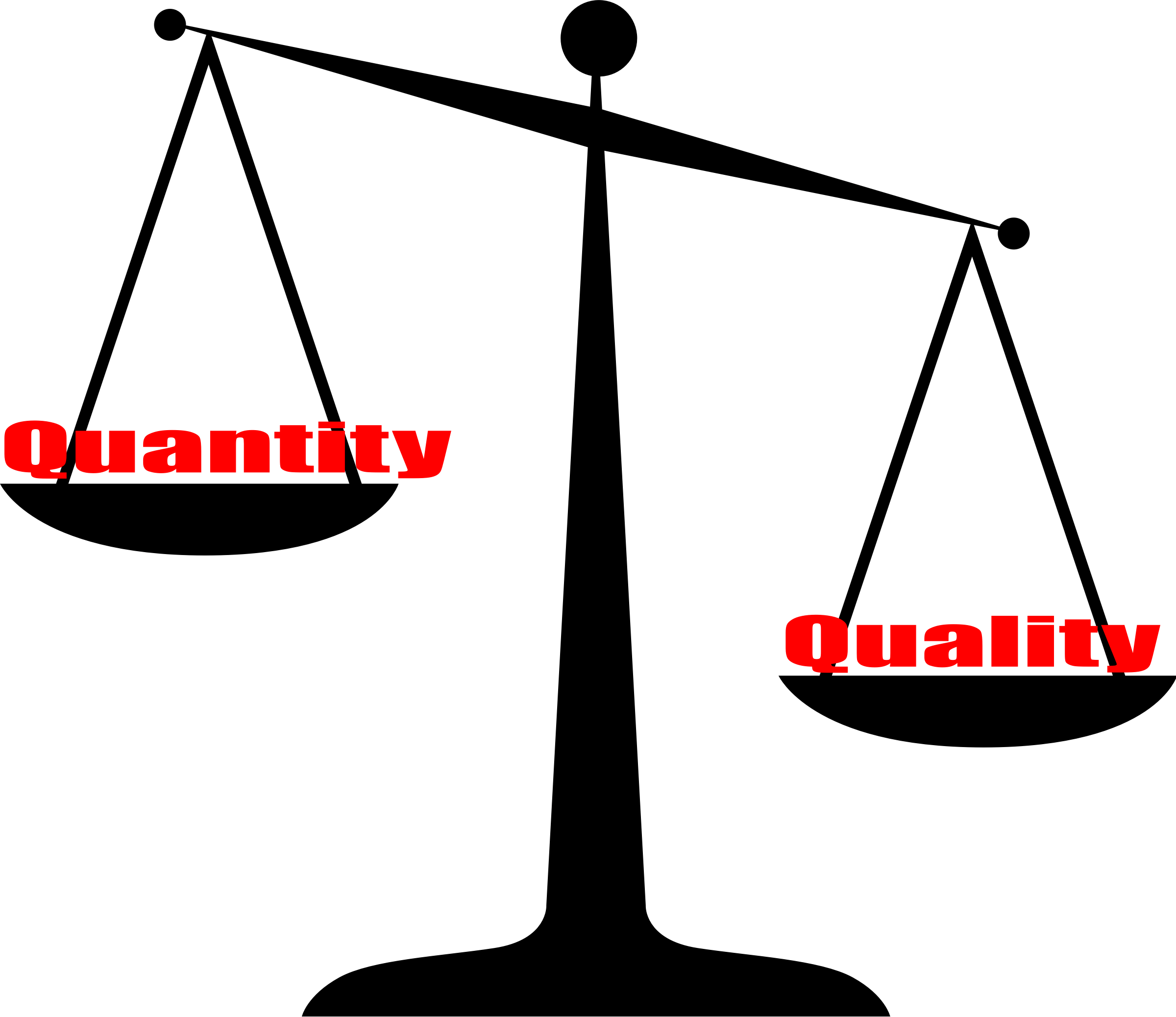 Quality Vs Quantity Vector Clipart Image