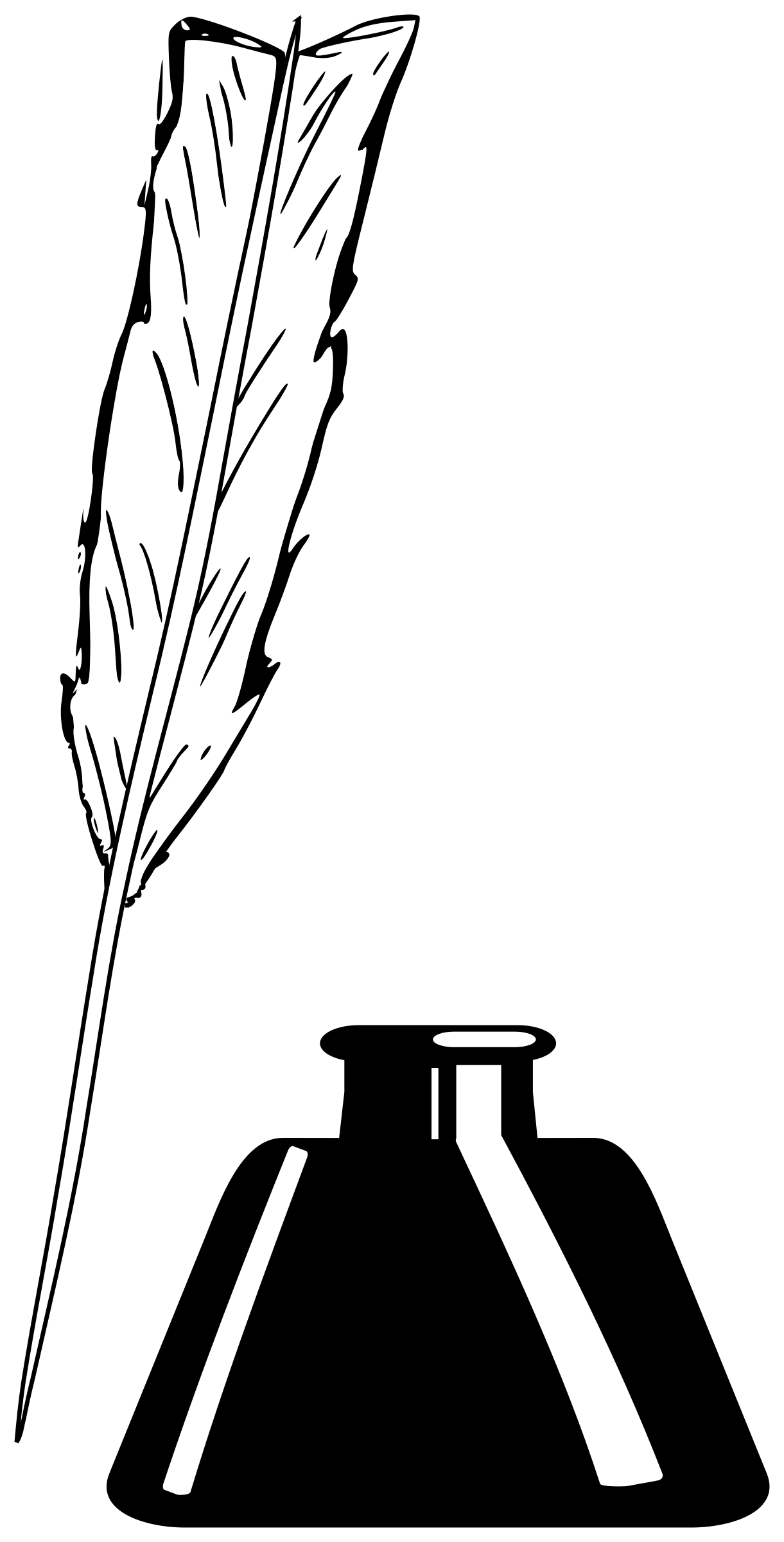 Quill And Inkwell Vector Clipart Image
