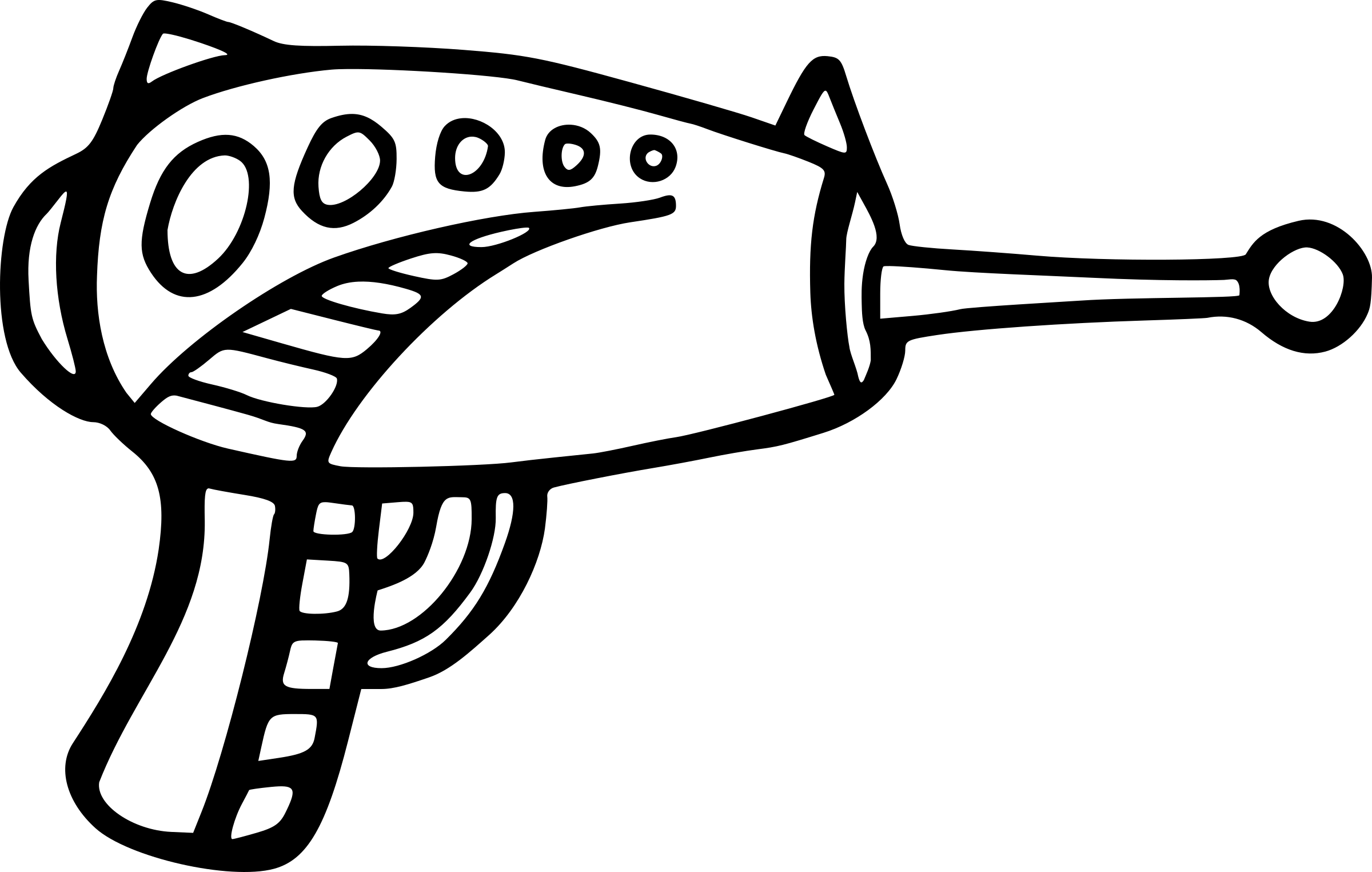 Raygun Vector Clipart Image