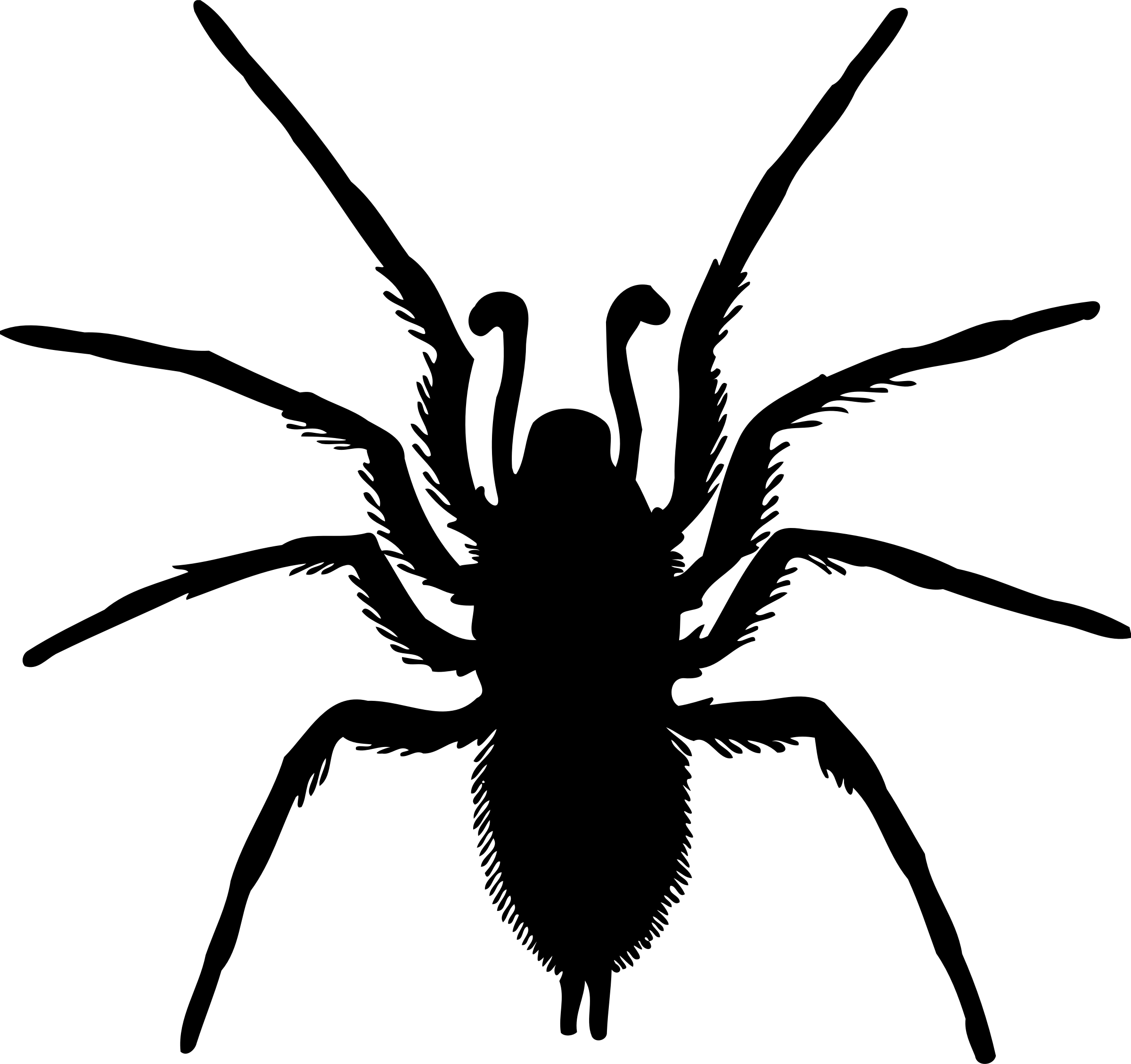 Spider Silhouette Vector File Image