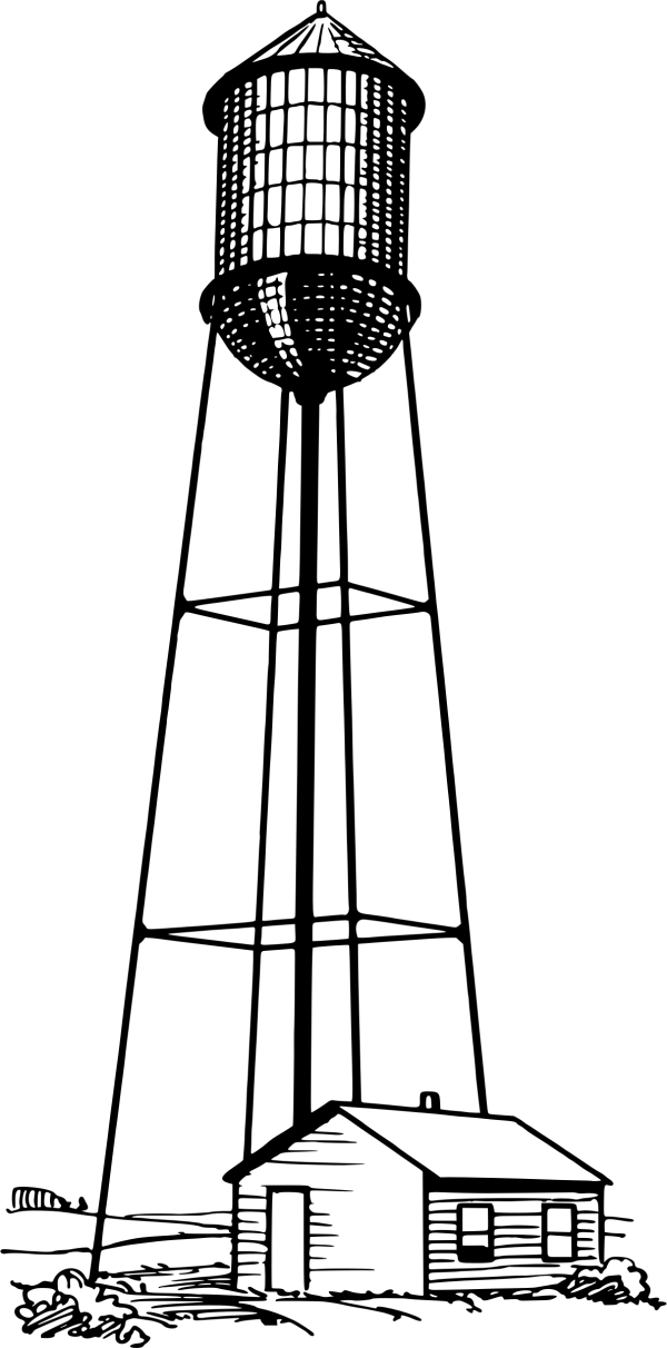 Tall Water Tower Vector Clipart image - Free stock photo ...