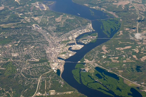 Aerial View of Dubuque, Iowa image - Free stock photo ...