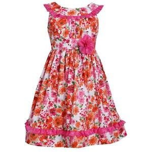 Bonnie Jean Orange dress_meisjesjurken