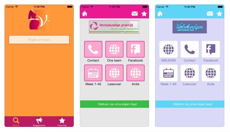 Mijn verloskundige zwangerschaps app