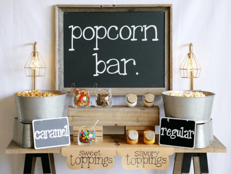 Popcorn-bar-voor kinderfeestje