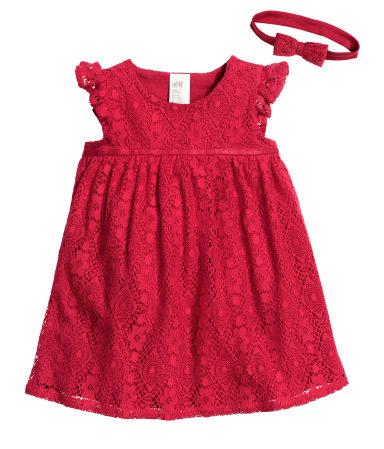 rode kerstjurkjes voor babys-GoodGirlsCompany-kerstjurkjes voor meisjes-HM kerstcollectie