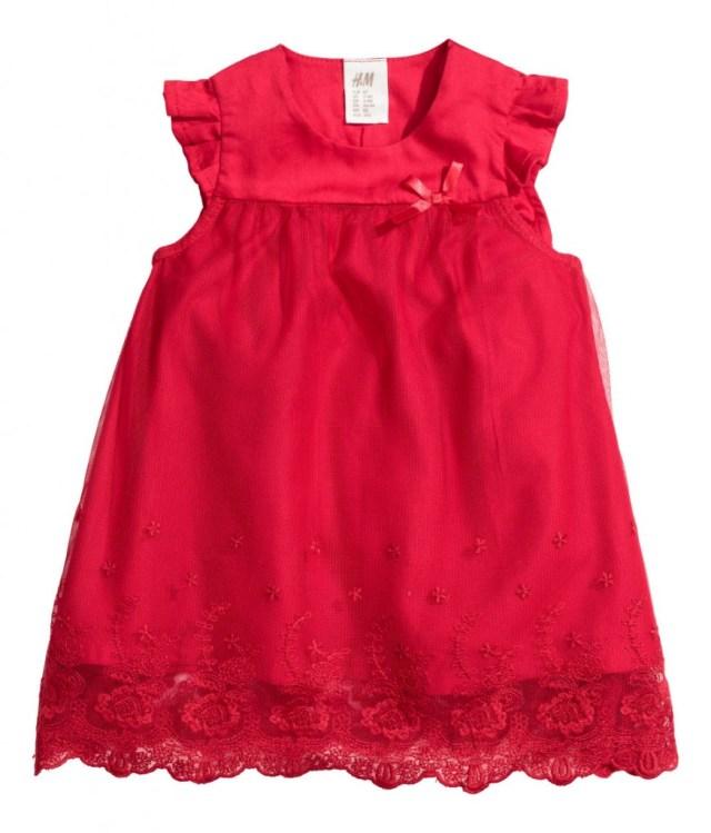 rood kerstjurkje voor babys-GoodGirlsCompany-kerstjurkjes voor meisjes-HM kerstcollectie