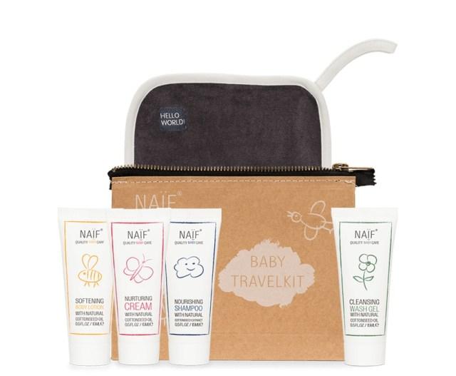 Naif baby care travelkit-GoodGirlsCompany-travel size huidverzorging voor kinderen