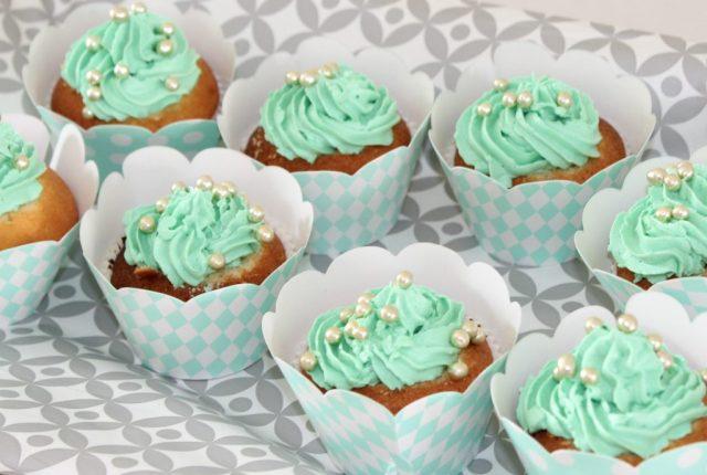 mintgroene cupcakes-peach mint