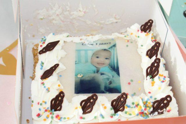 verjaardagstaart-Miss C-slagroomtaart