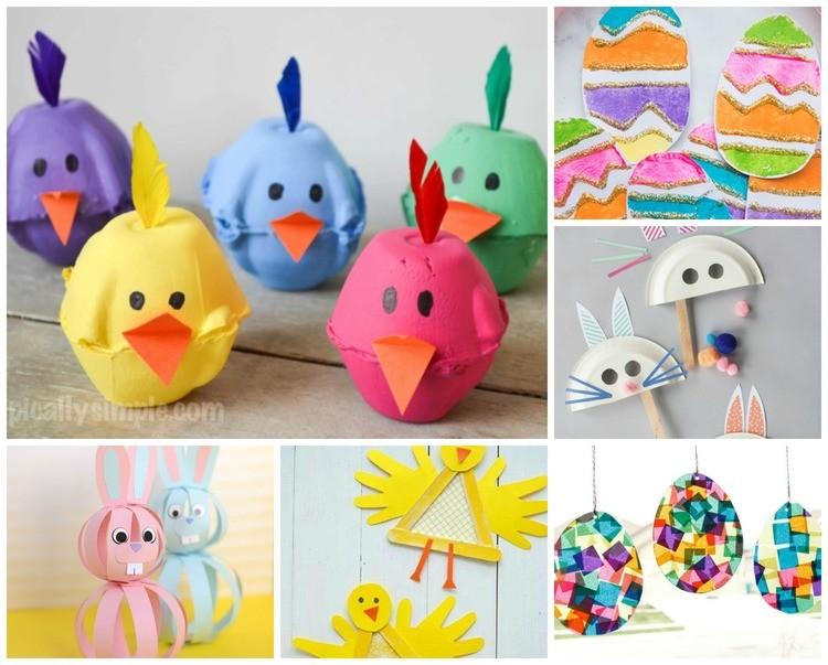 Knutselen voor Pasen;  leukste paasdecoratie om met kinderen te maken