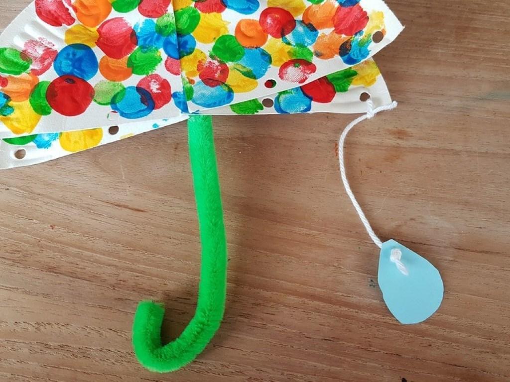 Paraplu maken Knutselen met Sien en Co knutselblog voor Good girls company regendruppels