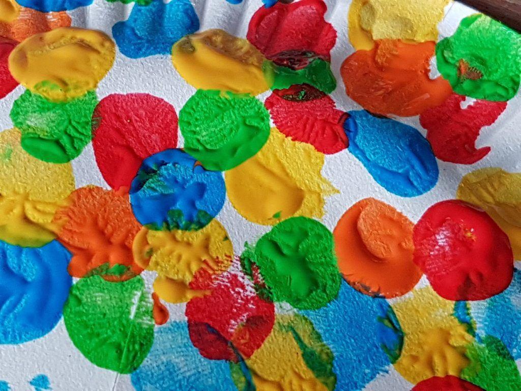 Paraplu maken Knutselen met Sien en Co knutselblog voor Good girls company vingerafdrukken