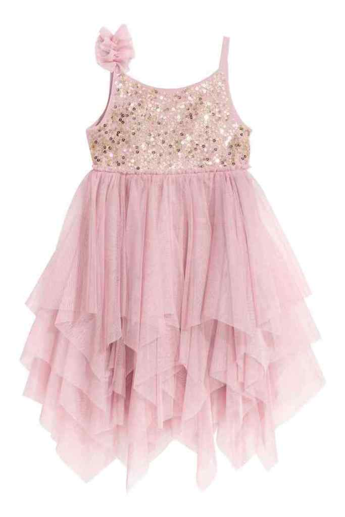 blush Tulen jurk met pailletten-HM-GoodGirlsCompany