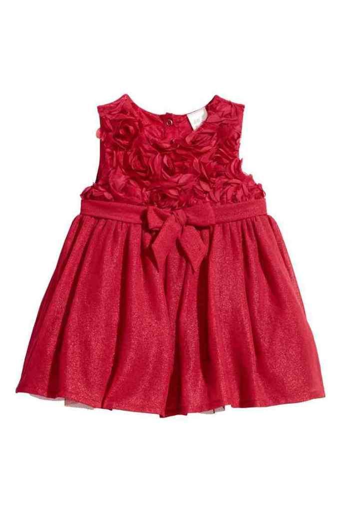 rode tulen kerstjurk