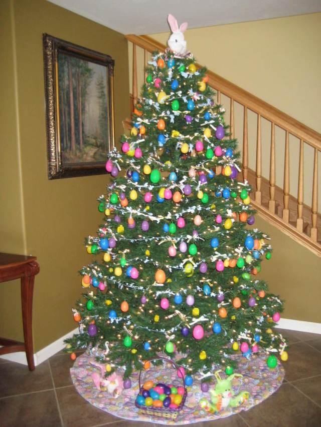 Kerstboom weg-Paasboom