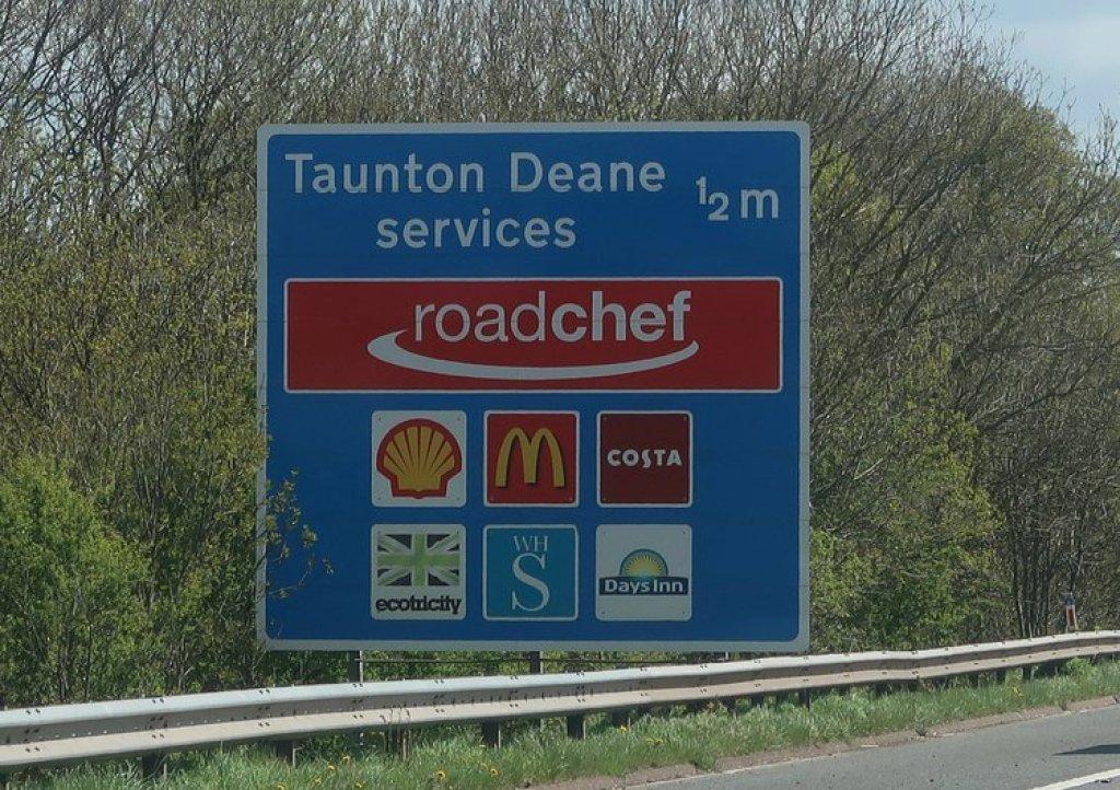 rustplekken langs Engelse snelweg