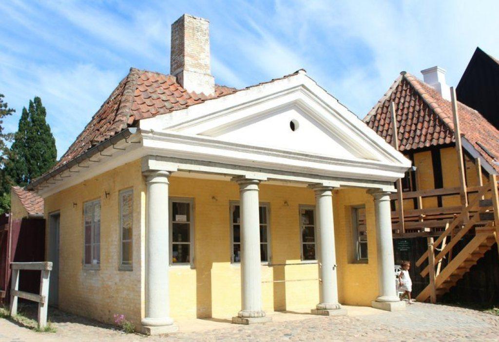 huizen in Openluchtmuseum Den Gamle By