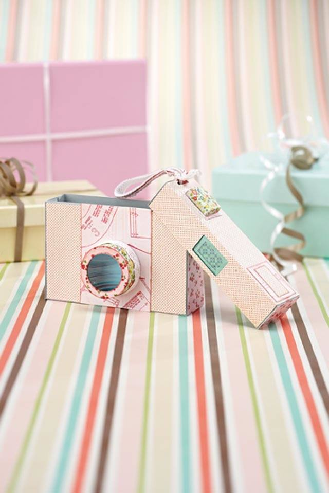 camera cards using stamping techniques on strippy background