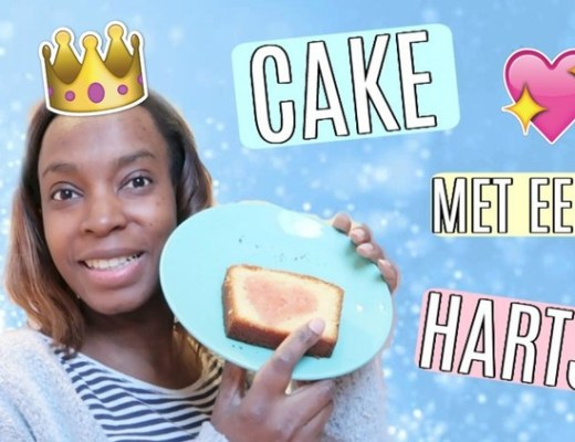 Cake met een hartje