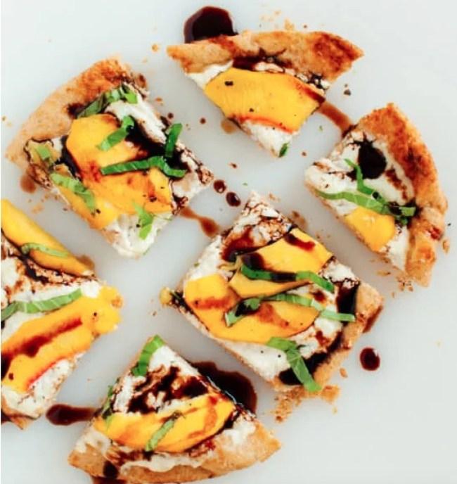 perzik platbrood met ricotta
