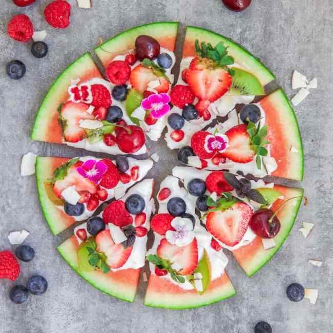 watermeloen pizza maken
