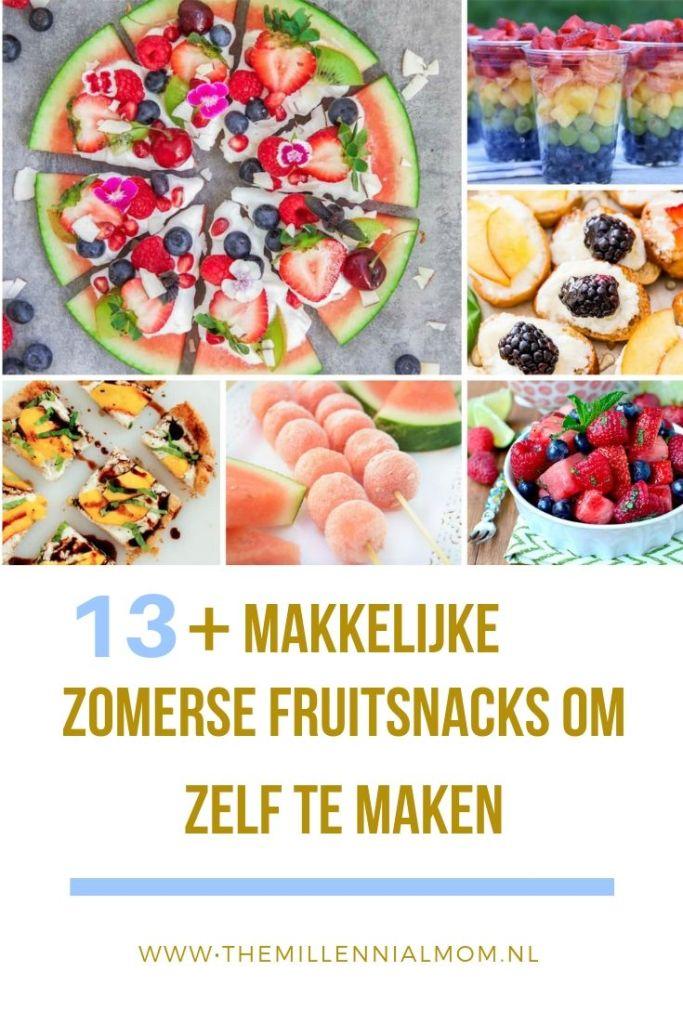 zomerse en fruitige snacks voor kinderen