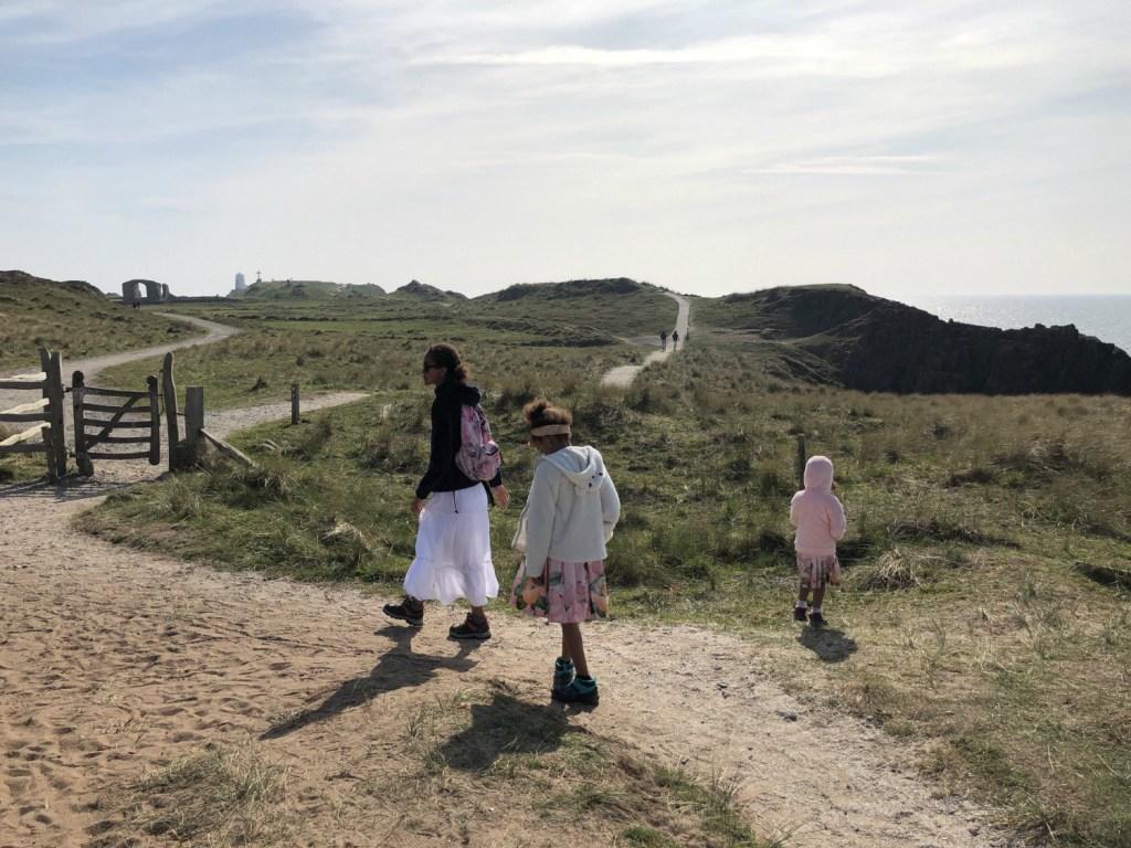 wandelen op Llanddwyn Island