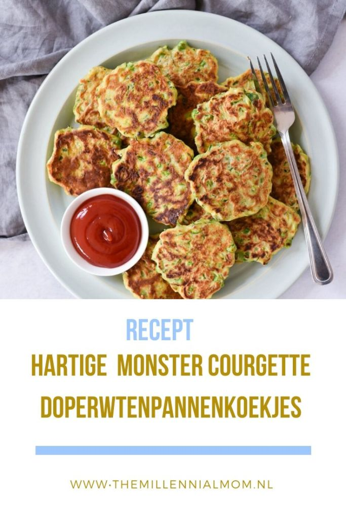 Hartige 'monster' courgette-doperwtenpannenkoekjes