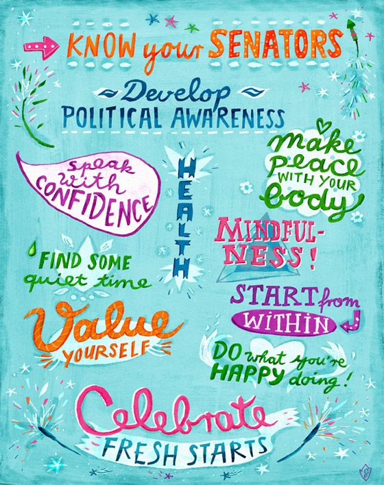 poster on new year resolution